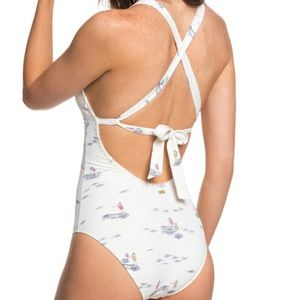 Rocky one piece swimsuit sailboat sea theme Large
